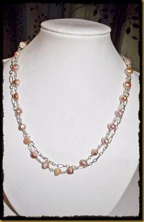 rosa ferskvann smykke