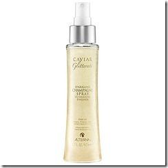 Alterna caviar champagne gold shimmering spray hair