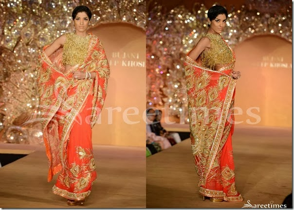 Abu_Jane_Sandeep_Peach_Saree