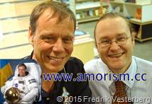 DSC00495 (1) komprimerad Astronaut Christer Fuglesang   Fredrik Vesterberg i universum (1) med amorism