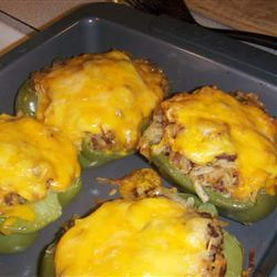 Hash Brown Hot Dish Stuffed Bell Peppers