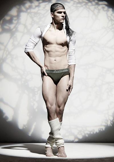 Alexandre Cunha by TBD for John Galliano underwear/lingerie lookbook, F/W 2011