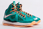 nike lebron 10 gr miami dolphins 5 03 Gallery: Nike LeBron X Miami Setting or Dolphins if you Like