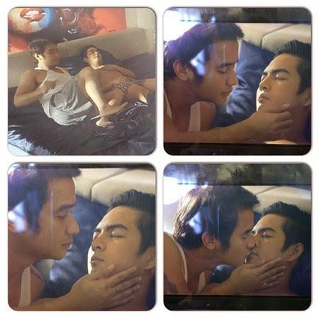 JM De Guzman and Neil Coleta do kissing scene in Papa's Boy