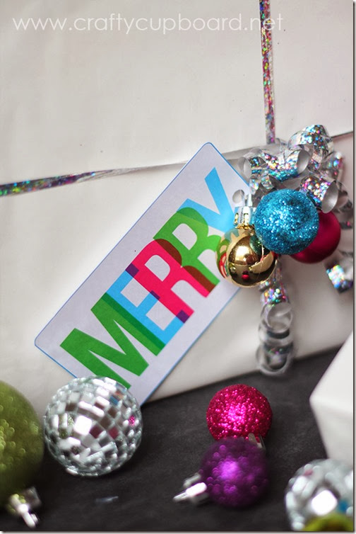 Merry Printable Gift Tag by the Crafty Cupboard