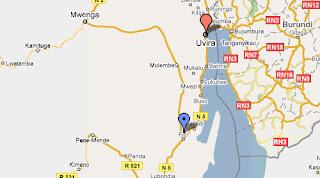 Carte de Uvira-Fizi au Sud Kivu