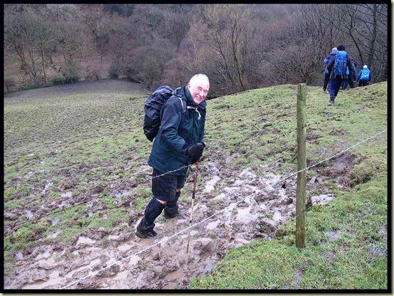 Don splodges through the mud