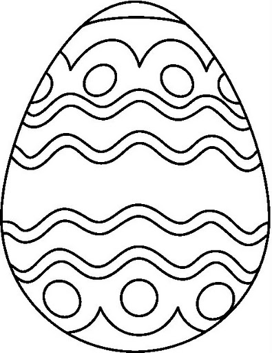 EASTER EGG3 BW From Coloring Pages Post EGG COLORING PAGES