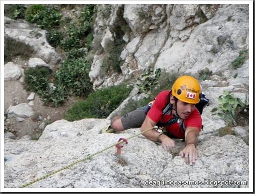 Via Costa Blanca 250m 6c  (6b A0 Oblig) (Peon de Ifach, Alicante) (Isra) 2419