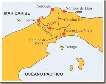Map of Camino de Cruces