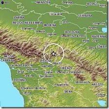 Sciame sismico tra Emilia e Toscana