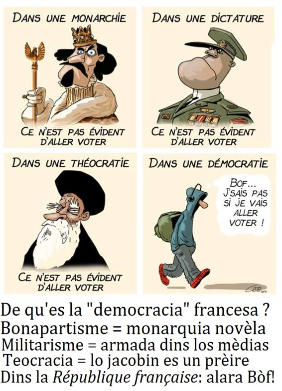 democracia francesa en 4 dessenhs regulars