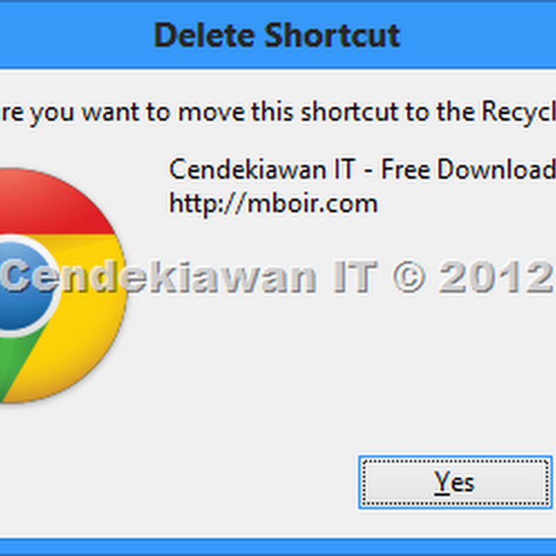 Cara Mengaktifkan Delete Confirmation Windows 8