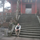 Emeishan - me at 2070m high, by a local chinese