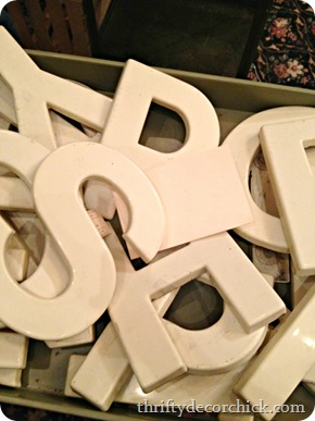 vintage letters