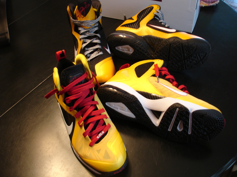 Inspired By 9 PS Elite Custom Nike LeBron ID 8220Taxi8221 Build