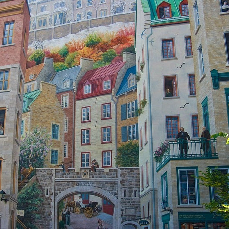 The Eye Deceiving Murals of Quebec City