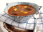 Hungarian Goulash Soup or Gulyás