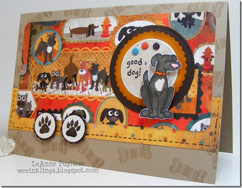 LeAnne Pugliese WeeInklings BW's Card Anna Wight Good Dog