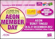 AEON Member Day Bukit Tinggi Branded Shopping Save Money EverydayOnSales