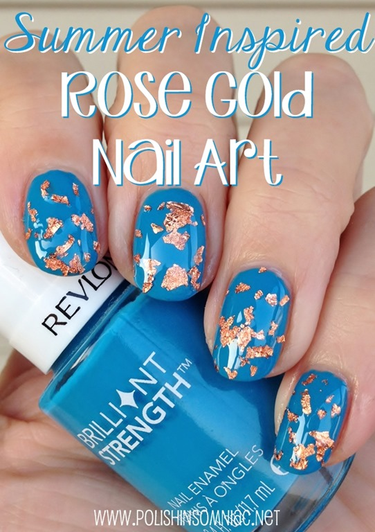 Summer Inspired Rose Gold Nail Art #walgreensbeauty #shop #nailart