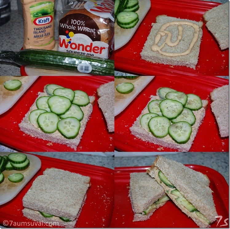 Cucumber sandwich process