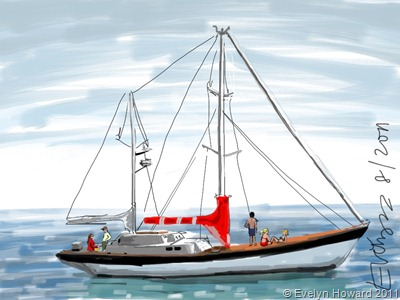 Boat ipad painting