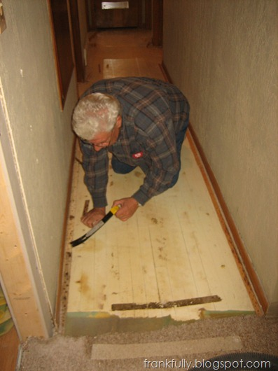 We were kind of jerks and made Grandpa help us tear up the carpeting.