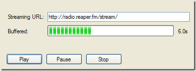 NAudio demo playing an internet radio station