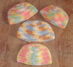 Hats sparkly pastels