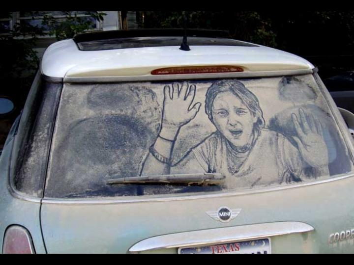 Look what SCOTT WADE does with dirty windows