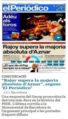 portada papièr de ElPeriódico 260911