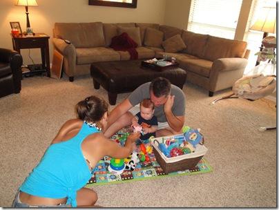 5.  Knox, Logan and Jess playing