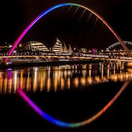 Newcastle millennium bridge by Steven Morrison - Buildings & Architecture Bridges & Suspended Structures (  )