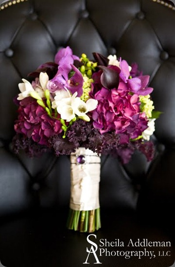 purple-orchid-wedding-bridal-bouquet flora nova seattle
