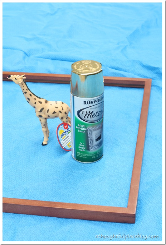 DIY brass giraffe