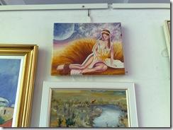 Tabloul in ulei pe panza Rapirea Persefonei la salonul de toamna din Herastrau organizat de AAPB