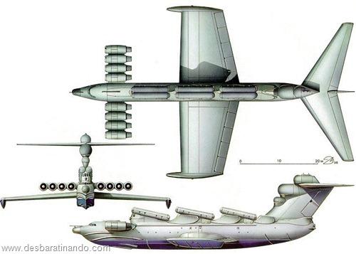 ekranoplano projeto 903 lun russo russia uniao sovietica desbaratinando (2)
