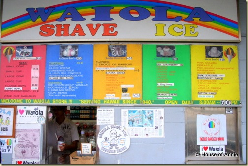 Waiola Shave Ice Ordering Window