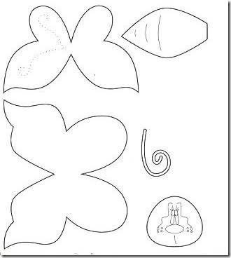 ... , moldes mariposa para foamy o fieltro, moldes mariposas en Goma Eva