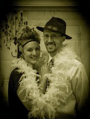 "Us dressed up for the 20's theme at the Rawlins ""Pride & Passion Ball"""