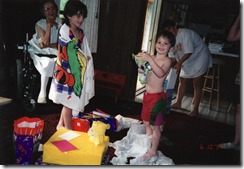 Zach's 5th Bday- Vernice, Amy, Zach, Kim- XAlpine Ave house...Summer 1997