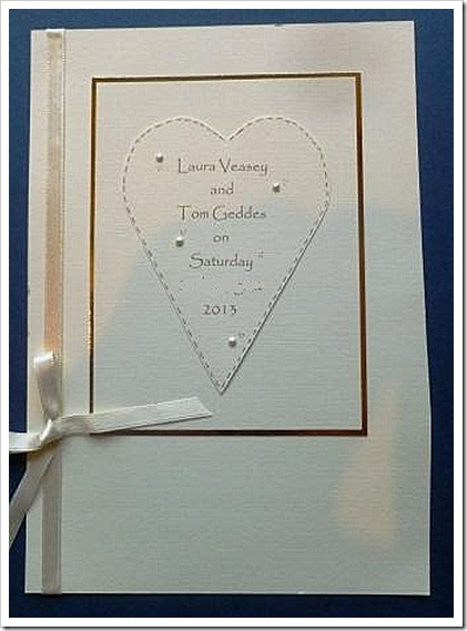 Less is More Wedding Invite