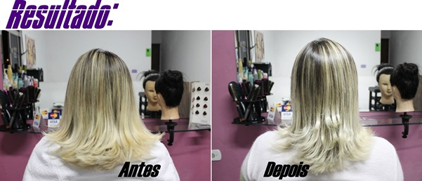 matizante antes e depois