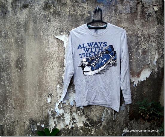camiseta zara tenis brechocamarim