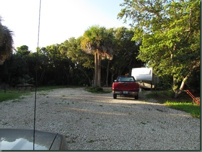 volunteer campsite at fort Pierce inlet state park...one to the left and to the right