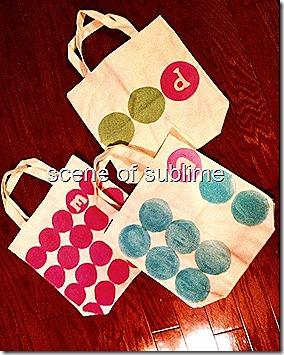 monogrammed polka dot bags 2