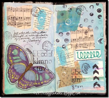 large butterfly journal page