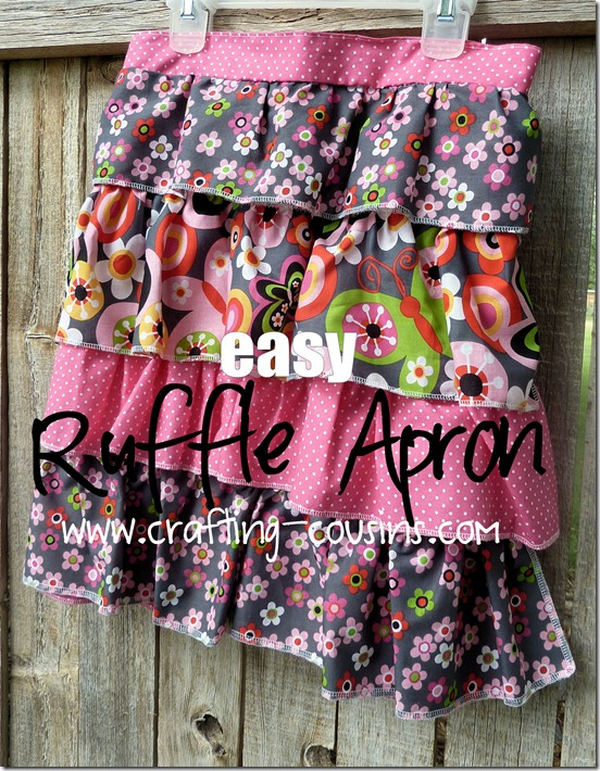 Ruffle Apron Tutorial from the Crafty Cousins