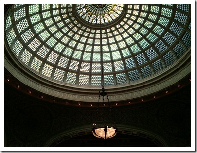 Preston Bradley Hall Tiffany Dome